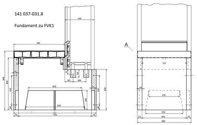 FS1 FILENIT Fertigfundament - 3-teilige Schachtabdeckung 8t