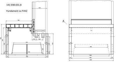 FS2 FILENIT Fertigfundament - 3-teilige Schachtabdeckung EN124: Klasse B125