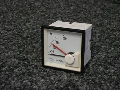 "Bimetall-Ampèremeter pronutec ""Whiteline"" 200A / 1A"