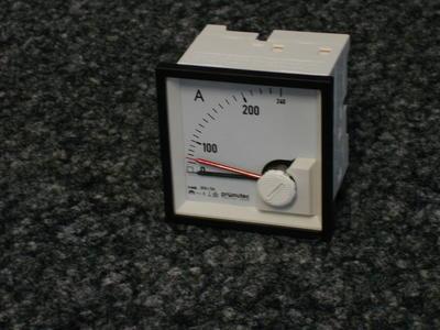 "Bimetall-Ampèremeter pronutec ""Whiteline"" 200A / 5A"