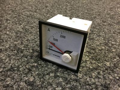 "Bimetall-Ampèremeter pronutec ""Whiteline"" 2000A / 5A"